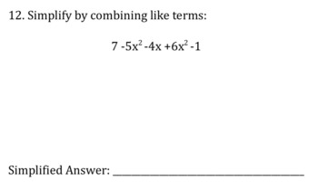 Combining Like Terms