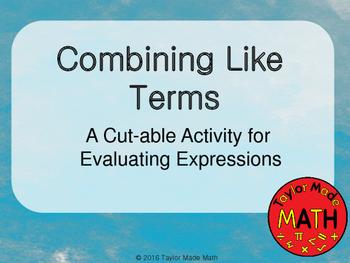 Combining Like Terms 6.EE.3