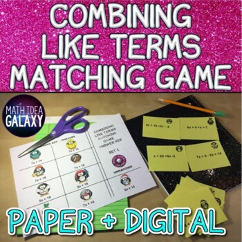 Combining Like Terms Activity - Matching