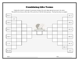Combining Like Terms Partners Activity (Brackets)