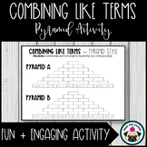 Combining Like Terms Activity - Pyramid Style