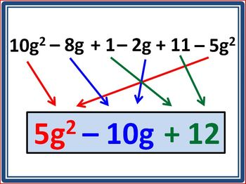 Combining Like Terms: Animated Algebraic Expressions [Practice Problems]