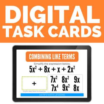 Combining Like Terms Boom Cards