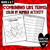 Combining Like Terms:  Color By Number Activity (Perfect f