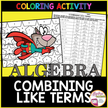 Combining Like Terms Coloring Activity