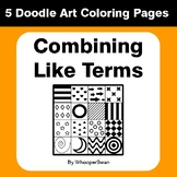 Combining Like Terms - Coloring Pages | Doodle Art Math