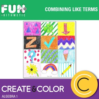 Combining Like Terms Create and Color