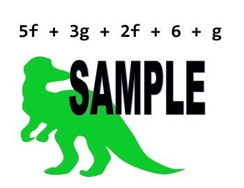 Combining Like Terms Dinosaur Dig (Algebra Scavenger Hunt)
