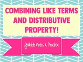 Combining Like Terms & Distributive Property Notes