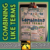 Combining Like Terms Doodle Notes
