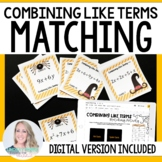 Combining Like Terms Editable Matching Activity : 6.EE.3