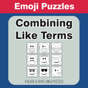 Combining Like Terms - Emoji Picture Puzzles