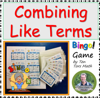 Combining Like Terms FREE bingo! activity