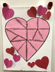 Combining Like Terms Heart Puzzle for Display Valentine's Day