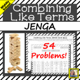 Combining Like Terms JENGA
