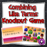 Combining Like Terms Activity- Knockout Game