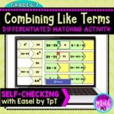 Combining Like Terms Matching Activity for use with Google