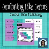 Combining Like Terms Matching Cards
