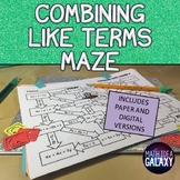 Combining Like Terms Activity (Distance Learning)