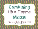 Combining Like Terms Maze