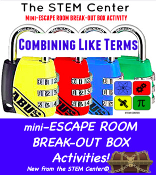 Combining Like Terms Mini Escape Room - Break Out Box