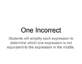 Combining Like Terms One Incorrect Worksheet