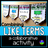 Combining Like Terms Math Pennant Activity