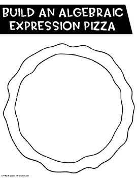 Combining Like Terms Pizzas CCSS 6.EE.3 Aligned**