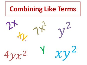 Combining Like Terms Power Point Lesson