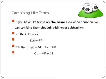 Combining Like Terms (PowerPoint)