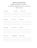 Combining Like Terms Practice Worksheet Common Core