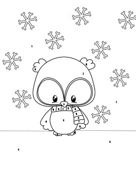 Combining Like Terms {Practice w/ Winter Themed Coloring Page}