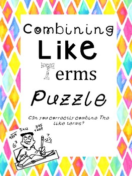 Combining Like Terms Puzzle