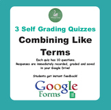 Combining Like Terms - Quiz with Google Forms