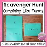 Combining Like Terms Scavenger Hunt  6.EE.3