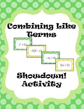 Combining Like Terms Showdown