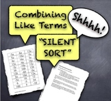 "Combining Like Terms ""Silent Sort"" Whole-Class Activity Kinesthetic"