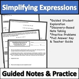 Combining Like Terms Notes & Practice