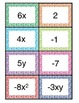 Combining Like Terms Sort Cards