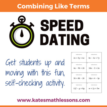 Combining Like Terms Speed Dating Activity
