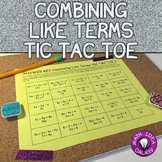 Combining Like Terms Game