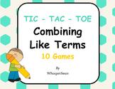 Combining Like Terms Tic-Tac-Toe