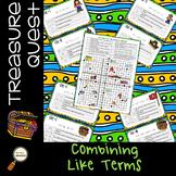 Combining Like Terms - Treasure Quest Adventure
