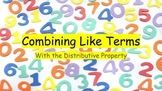 Combining Like Terms Walk-through Activity
