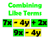 Combining Like Terms Word Wall