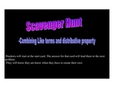 Combining Like Terms and Distributive Property Scavenger Hunt