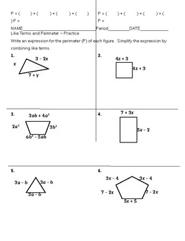 Combining Like Terms and Perimeter