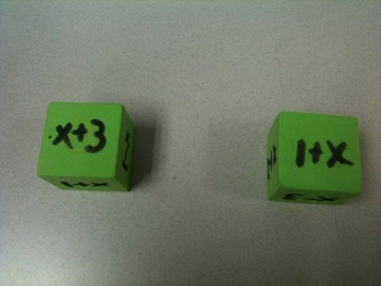 Combining Like Terms with Dice