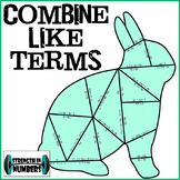Combining Like Terms with Distributive Property Bunny Rabb