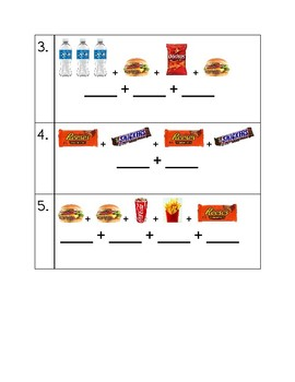 Combining Like Terms with Foods